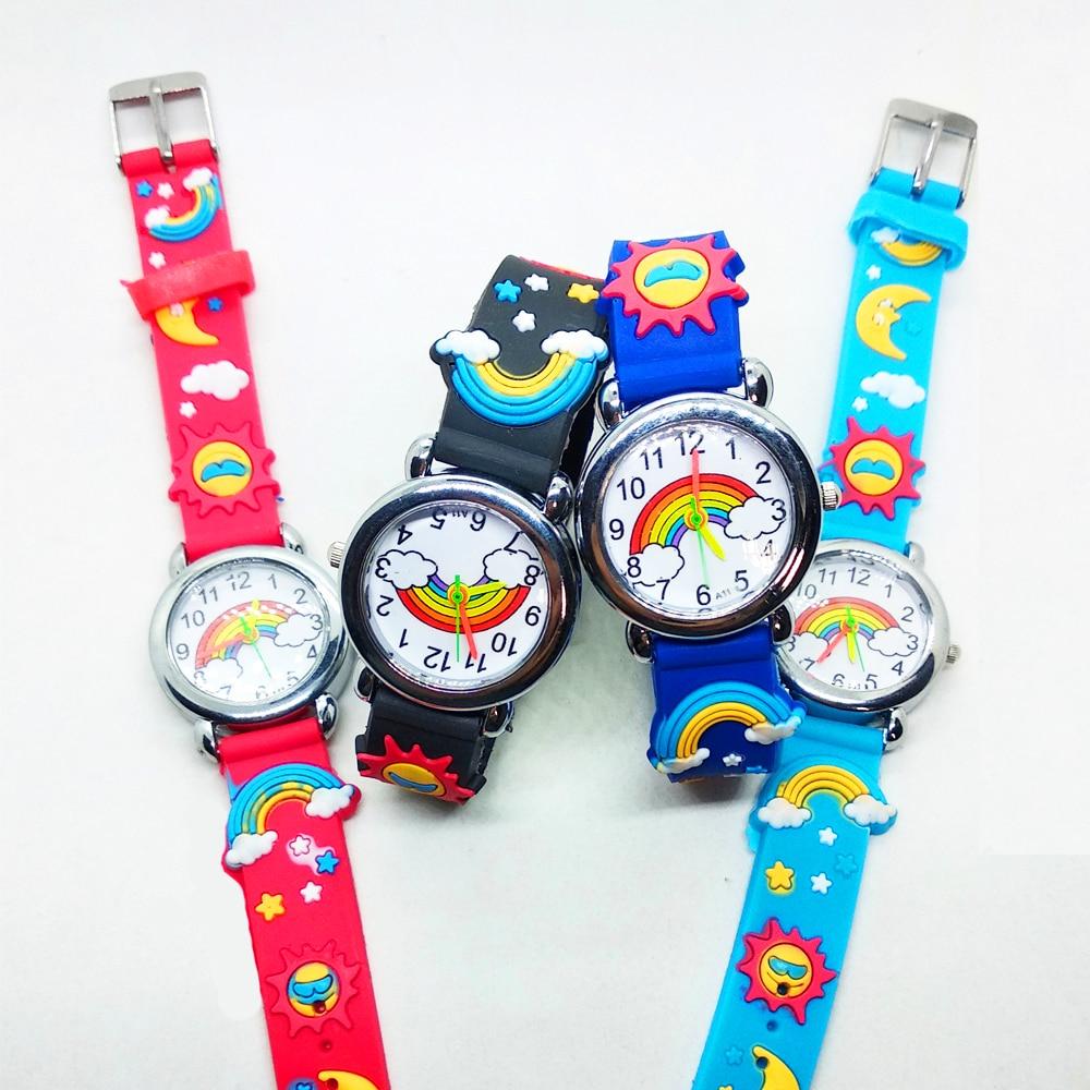 Color Rainbow Children Watch Kids Watches Boys Girls Quartz Electronic Digital Watch Children Clock Baby Kid Gift Montre Enfant