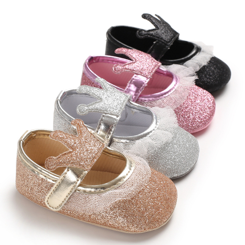 Spring And Summer 0-1-Year-Old Baby Toddler Shoes Silica Gel Soft-Sole Princess Shoes Breathable BABY'S Shoes Baby Shoes