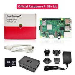 Официальный raspberry pi 3 b plus Премиум комплект с raspberry pi источник питания EU/UK/AU/US штекер + HDMI кабель + чехол + 16G TF карта в наличии