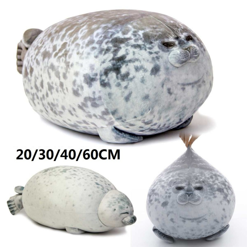 Creative 3D Plush Ocean Stuffed Soft Pillow Throw Pillows Chubby Blob Seal Shaped Pillow Home Decoration Toys For Gift