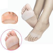 1 pair Silicone Forefoot Pads Pain Relief Orthotics Foot Massage Anti-slip Protector High Heel Elastic Cushion Foot Care(China)