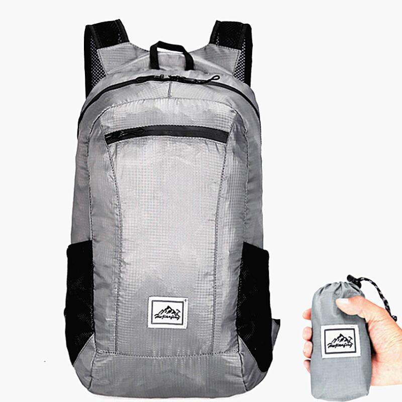 20L 85g hafif katlanır sırt çantası açık kamp yürüyüş çantası kullanışlı katlanabilir Ultralight çanta seyahat sırt çantası küçük sırt çantası title=