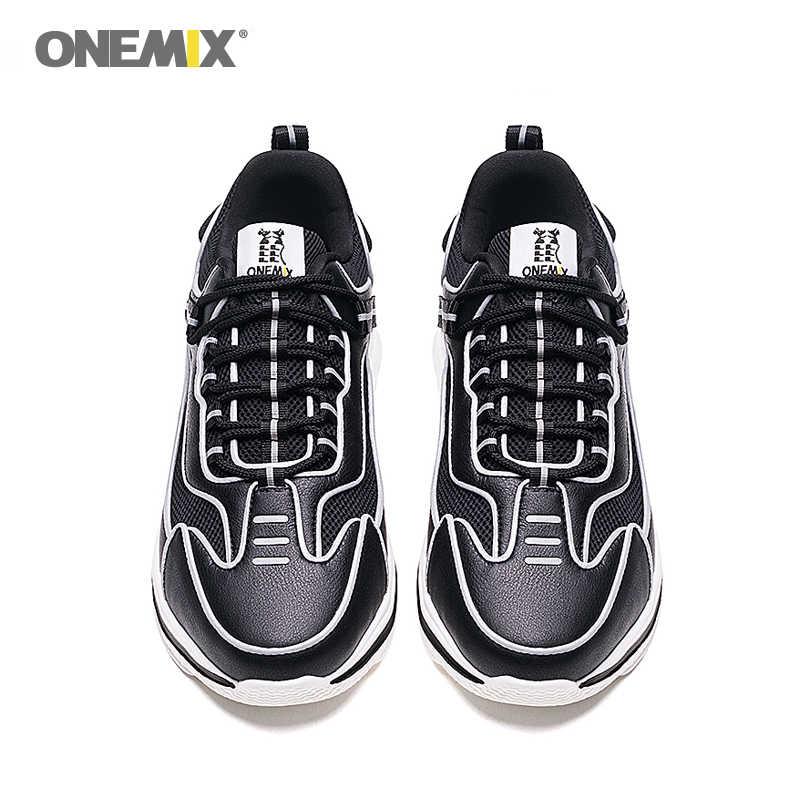 ONEMIX Retro koşu ayakkabıları erkek spor ayakkabı kadınlar için vahşi rahat rahat ayakkabılar açık seyahat Harajuk koşu ayakkabıları