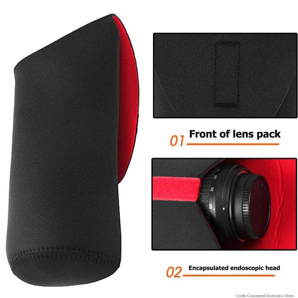 5 ขนาดเลนส์กล้องกระเป๋า Neoprene กันน้ำกล้องเลนส์กระเป๋าใส่กระเป๋า S M L XL XXL สำหรับ Canon Nikon sony กล้อง DSLR กระเป๋าเลนส์