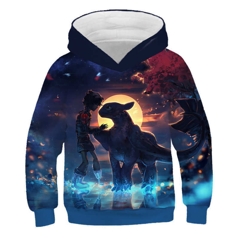 Dragon Trainer 2019 Sell Well Winter New Arrival Sweatshirt Boys Girls Hoodies Hip Hop Children Hoodies Tame Dragon Clothes