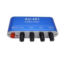 DC5 12V Stereo Mixer Audio 4 Ingresso 1 uscita Singolarmente Controlli Scheda Audio di miscelazione FAI DA TE Cuffie Amplificatore