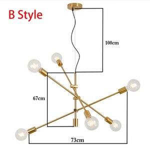 Image 3 - Nordic Modern Pendant Lights Long Pole Designer Pedant Lamp E27 led Light Bulb Hanging Lamp Ceiling Art Decoration Pendant Light