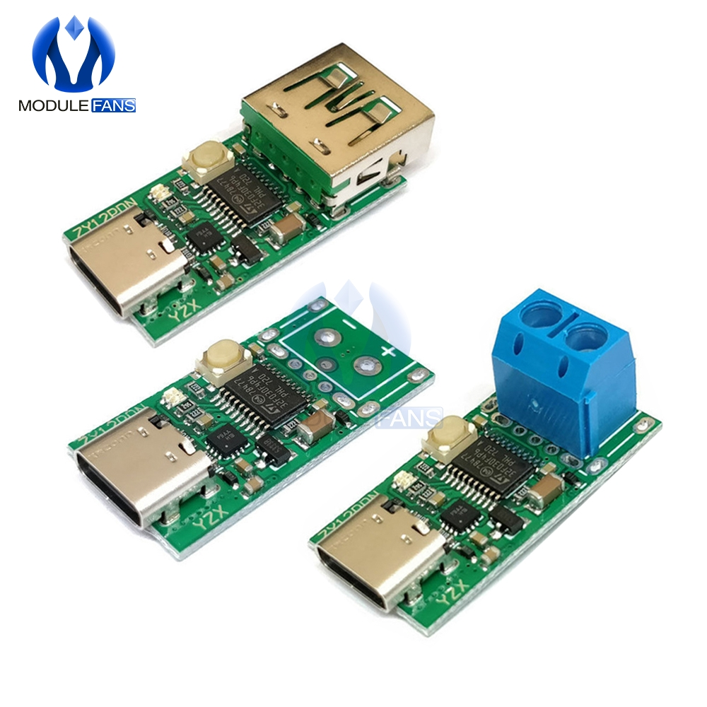 Type-C USB-C PD2.0 PD3.0 To DC Spoof Scam Fast Charge Trigger Polling Detector Notebook Power Supply Change Module Board USB-PD