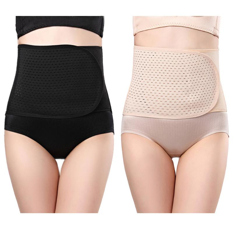 Belly Abdomen Postpartum Belt Body Shapewear Waist Trainer Fitness Spandex Blend  Corset Reathable Waist Trainer Corset