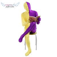 Left and right stitching all inclusive tights jumpsuit cosplay anime stage costume Zentai