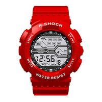 Reloj de pulsera deportivo a prueba de agua para hombre, cronómetro Digital Lcd, con fecha, de goma, Masculino, #3, 2021