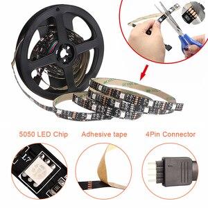 Image 5 - USB LED أضواء للمطبخ تحت خزائن RGB LED قطاع تيار مستمر 5 فولت SMD 5050 TV إضاءة خلفية خزانة خزانة مصباح مع البعيد