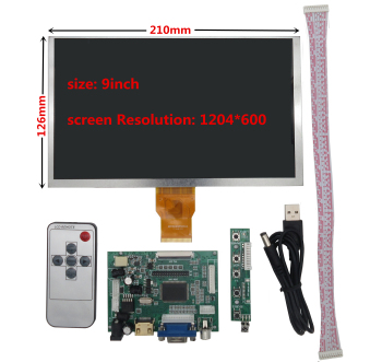 цена на for Raspberry Pi Banana/Orange Pi mini computer LCD Screen Display Monitor with Remote Driver Control Board 2AV HDMI VGA