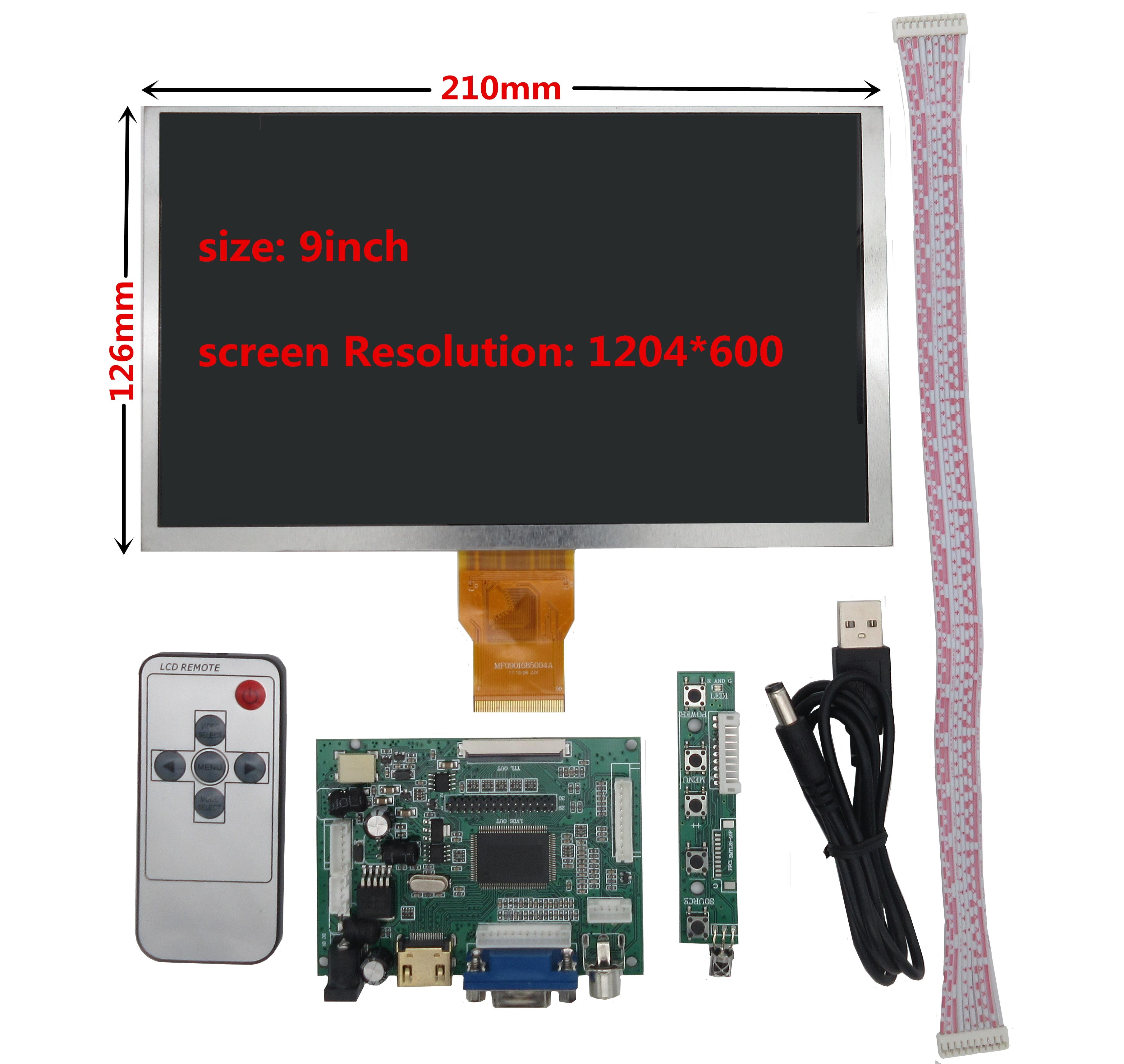 for Raspberry Pi Banana/Orange Pi mini computer LCD Screen Display Monitor with Remote Driver Control Board 2AV HDMI VGA