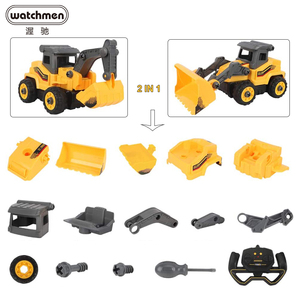 Remote Control Truck Excavator 2.4Ghz Radio Construction Model Building Blocks Assembly Disassembly RC Car Toys for Boys Gifts