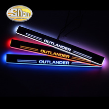 SNCN Car LED Door Sill For Mitsubishi Outlander 3 2012 2018 Ultra thin Acrylic Dynamic LED Welcome Light Scuff Plate Pedal