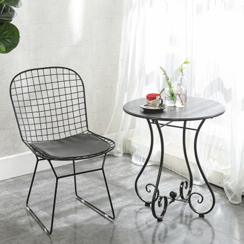 Nordic INS Iron Grid Simple Casual Chair Home Furniture Bedroom Office Meeting Computer Chair Restaurant Suitable For Wire Chair