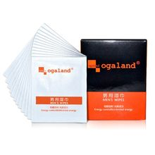 Lubricating Fluid Natural Plant Essential Oil Wet Wipes Men Delay Ejaculation T4MB