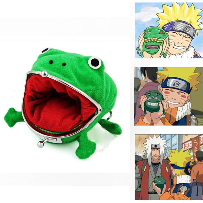 Anime NARUTO Cosplay Prop Accessories Uzumaki Frog Shape Wallet Cute Purse Coin Purse