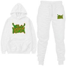 2020 Fleece Hoodies Sweatshirt Männer Casual Zwei stück Warme Hoodie Hip Hop 2PC Mit Kapuze Sweatshirts Mode Hoodie größe s 2XL