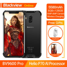 Blackview BV9600 Pro Helio P70 Waterproof Rugged Smartphone 6GB+128GB Android 9.0 Cellphone 19:9 AMOLED Outdoor 4G Mobile Phone(China)