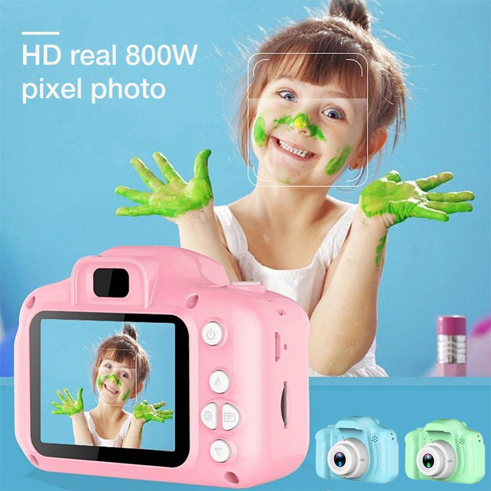 Rechargeable Kids Mini Digital Camera 2.0 Inch HD Screen Video Recorder Camcorder Language Switching Timed Shooting Kid Gift Toy
