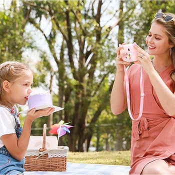 Portable Digital Creative Print Camera DIY Cartoon Child Outdoor Photography Props - discount item  15% OFF Electronic Toys