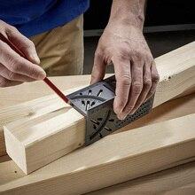 Marcador de carpintería marca línea manómetro regla T-tipo cuadrado diseño esquina regla plástico inglete 90 grados medición calibrado con lápiz