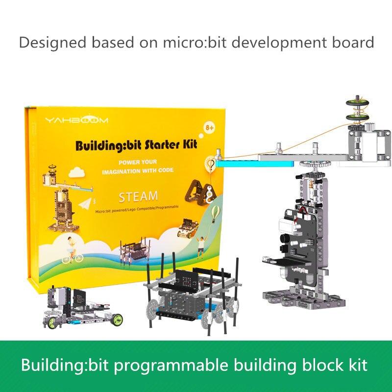 Microbit programmierbare gebäude block kit kinder elektronische modul micro: bit pädagogisches spielzeug roboter kompatibel mit Legoing bu