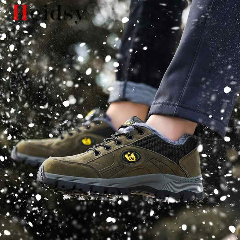 Scarpe di marca Invernali Gli Uomini di Grande Formato 38-49 Super Caldi Stivali da Uomo Scarpe Da Ginnastica Alla Caviglia Caldo Peluche antiscivolo Stivali Da Neve Per Uomo Calzature