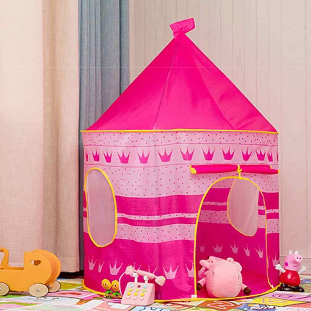 Princesa teepee jogar tenda dobrável azul rosa jogo casa tenda ao ar livre indoor crianças brinquedos tenda para crianças tipi infantil
