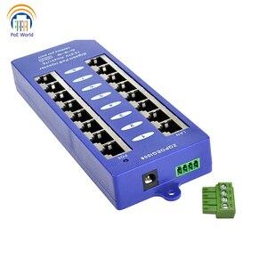 Image 2 - 802.3af Mid span PoE injector Mode B(4/5+,7/8 ) Passive Gigabit 8 Port PoE Injector For Mikrotik UBNT CCTV Network