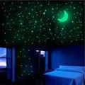 Светящиеся наклейки со звездами и луной, 338 шт., флуоресцентные наклейки на стену для детской комнаты, спальни, наклейки, украшения для дома