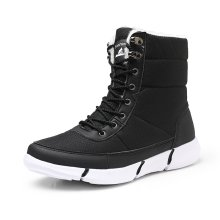 Casual Non-slip Shoes High-top Plus Velvet Thickened Snow Boots Women Men Cotton Shoes Light Boots Large Size 36-46(China)