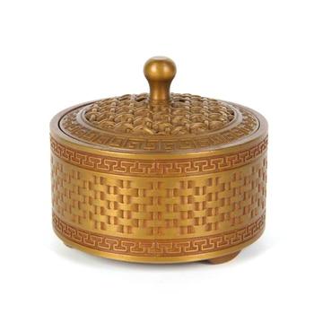MOZART Bronze Pure Copper Crafts Ornaments Bamboo Weaving Furnace, Brass