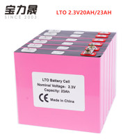 6PCS Lithium titanate battery 2.4V 20AH 23AH LTO baterie 6C 120A for diy 12v 36V 48V bus energy storage system car star boat EV