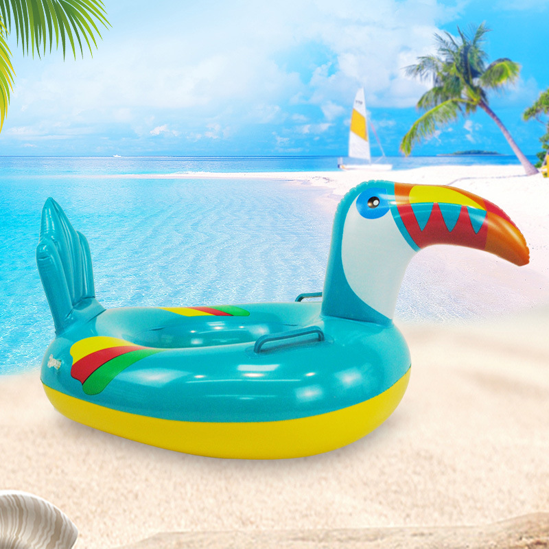 Toucan New Products BABY'S Swim Ring Riding Boat CHILDREN'S Lifebuoys Inflatable Aquatic Toy Thick