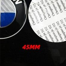 45 мм чехол рулевого колеса автомобиля эмблема Стикеры для BMW E46 E60 E90 E85 E89 F30 E93 F15 F31 F22 F10 F36 X1 X3 X5 X6 Z4 аксессуары