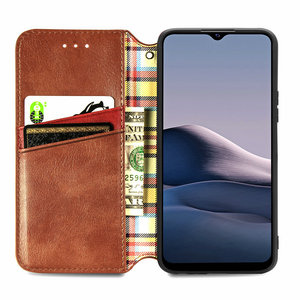 Image 3 - Leather Texture Magnet Book Shell for Vivo Y20 2020 Luxury Case Vivo Y20S Y20i Y 20 S 20S Y11S Y12S Flip Cover Funda Shockproof