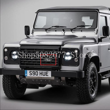 Car Styling Racing Grill Logo for Land Rover Defender Solihull England 1948 2015 Badge Front Grille Metal Emblem Accessories