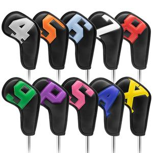 Colorful Number Golf Iron Head Covers Iron Headovers Wedges Covers 4-9 ASPX 10pcs