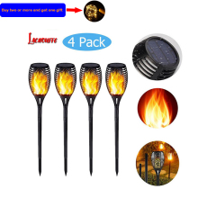 33LED Waterproof Flickering Flame Solar Torch Light Garden Lamp Outdoor Landscape Decoration Garden Lawn Light