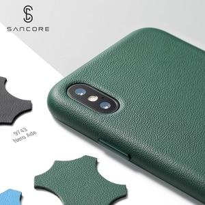 Image 2 - SanCore für iPhone X Xs Max Telefon Fall Leder Mode cellphoneFull schutz NAPPA Business Premium Shell Luxus Rindsleder Mann