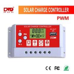 Inteligentna pamięć Auto regulator ładowania słonecznego 30A wyświetlacz LCD podwójne wyjście USB 5V w Urządzenie rozruchowe od Samochody i motocykle na
