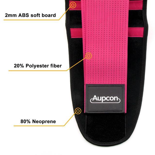 AUPCON Waist Trimmer Belt for Men & Women Sport Shapewear, Exercise Waist Trainer Weight Loss Burning Fat Body Building Shaper 5