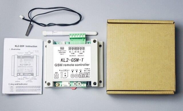 Dual Relais Schakelaar Module GSM Alarm met SMS Controller KL2 GSM T met temperatuursensor voor Licht/Visvijver cultuur/warehousing