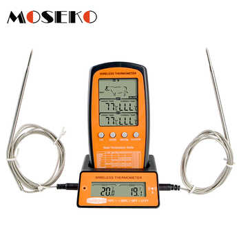 MOSEKO Dual Probe Digital Wireless Oven Thermometer For Meat Water Food Barbecue BBQ Cooking Kitchen Timer Temperature Alarm - DISCOUNT ITEM  35 OFF All Category