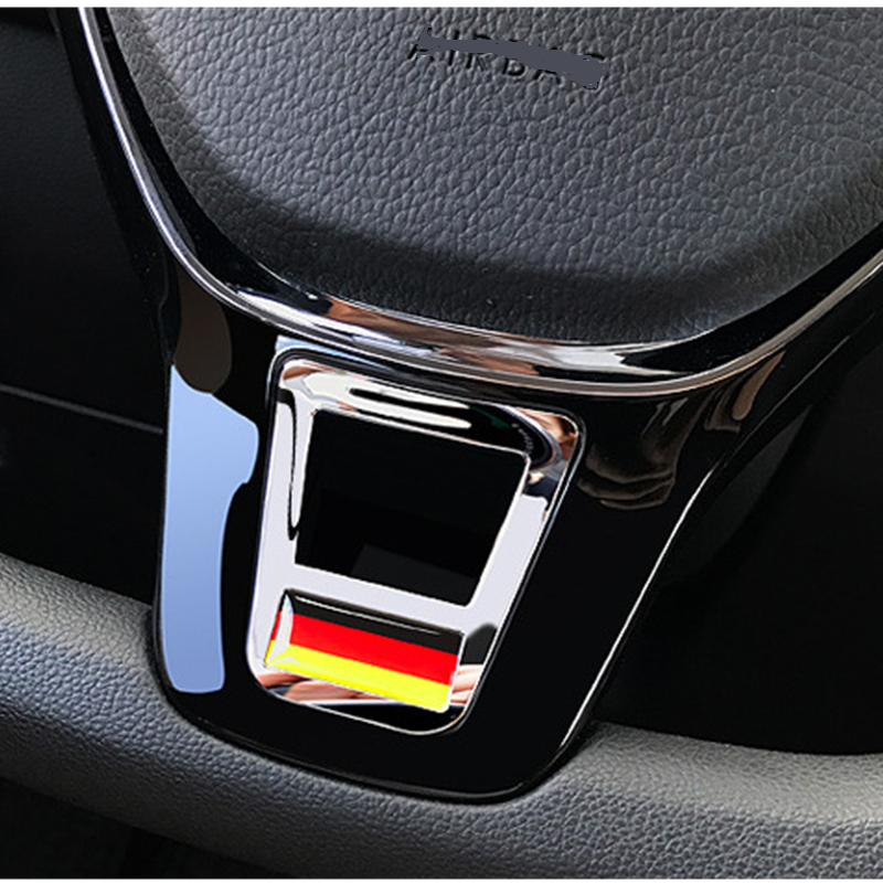 Apply to Bora Golf 7 MK7 Polo Tiguan L Touran L Passat B8L CC D-type steering wheel sequins with interior modification