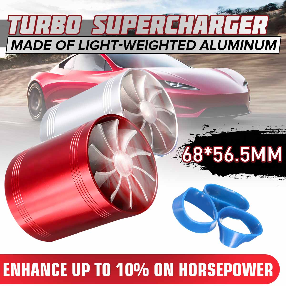 68mm x 56.5mm 범용 자동차 공기 필터 흡기 팬 연료 가스 보호기 과급기 MV77942B 터빈 터보 충전기 터보 차저 용