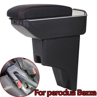 For Perodua Bezza Armrest Box Rotatable Arm Rest Car-styling USB Interface Modification Center Centre Console Accessories